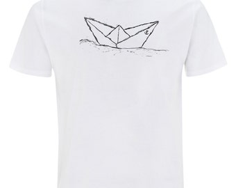 Paperboat T-Shirt Fair Trade & Organic Cotton _ white