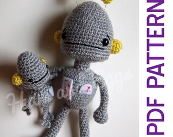 PDF Amigurumi Crochet Robots Gift Perfect for Kids or Adults that Love Robots