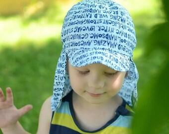 Cotton Summer Hat For Children, Kids Sun Hat, Kids Beach Hat, Toddler Boy Sun Hat, Toddler Boys Beach Hat, Toddler Boy Summer Hat