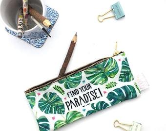 Pencil Case, Tropical, Pencil Pouch, Make Up Bag, Summer, Pouch, Small Bag, Zipper Pouch, Bag, pencil bag, organiser