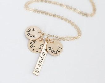 Personalized Grandmother Jewelry - Best Nana Ever - Grandma Necklace with Names - Nana Necklace - Grandma Gift - Gift from Grandkids
