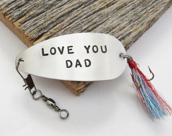 Gifts for Dad Birthday Gift for New Dad First Christmas for Daddy from Son to Dad Fishing Lure Wedding Gifts for Dad in Military Husband Him