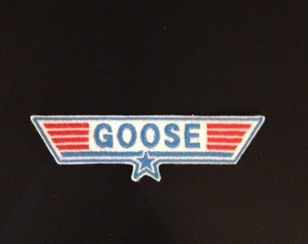 Top Gun Goose Embroidered Patch Badge Iron on or sew