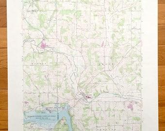Antique Perrysville, Ohio 1961 US Geological Survey Topographic Map – Monroe, Worthington, Hanover, Mifflin, Vermillion, Pleasant Hill Lake
