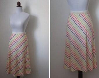 1970's Multi Striped Skirt