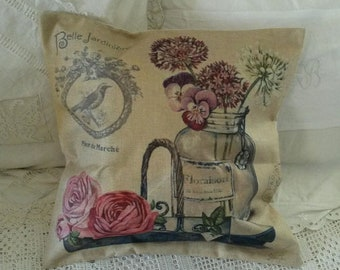 Shabby chic and romantic pillow cover / country style