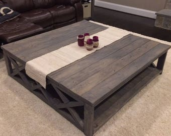 Custom Rustic Farm House Coffee Table (Extra Large)