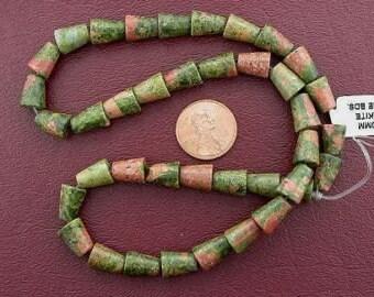 10x8 cone gemstone unakite beads