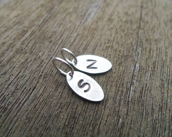 Extra sterling silver personalized initial tag and/or add on swarovski pearl charm
