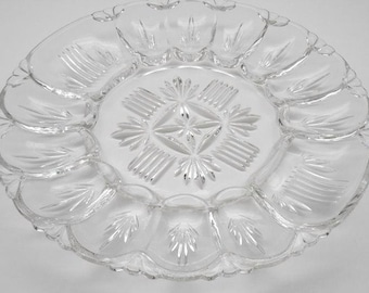 Vintage   Glass Egg Plate