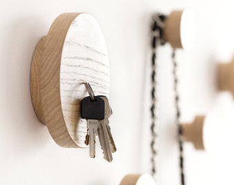 Key holder for wall - wall hook - key hanger - key holder - key rack - entryway key holder - keys holder - magnetic key holder - 2 in 1