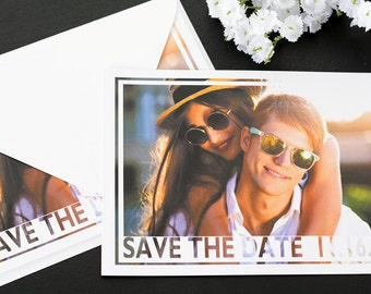 """Photo Frame - Save The Date Cards - 5"""" x 7"""" Wedding Announcement Cards - Save The Dates - Personalized Save the Dates - Photo Cards"""