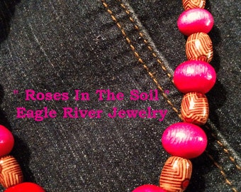 Pretty Wooden Necklace called  Rose In The Soil