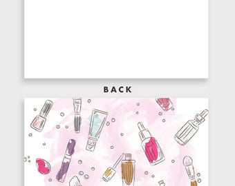 Personalized Stationery Set, Makeup Stationery, Makeup Note Cards, Teenager Gift Gifts for Teens, Cosmetologist Gift for Makeup Lover SP0011