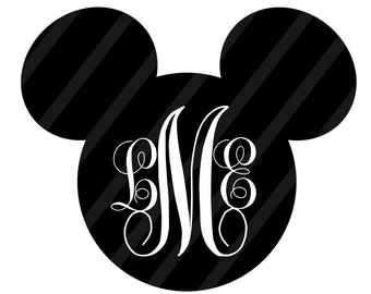 Disney Inspired Digital Download Monogram for iron-ons, heat transfer, T-Shirt, Onesies, Bibs, Totes, Bags,Scrapbooking, Cards, YOU PRINT