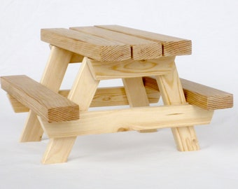 Miniature Wooden Picnic Table