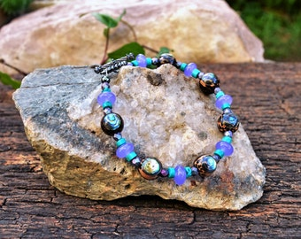 Abalone Shell Bracelet, Handmade Shell Jewelry, Gifts for Her from The Hidden Meadow