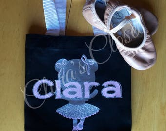 Canvas Bag, Dance Bag, Ballet, Dance, Customized Bag, Toddler Bag, Girls Bag