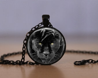 Black Panther Pendant Necklace Big Cats Animal Wild Life Mens Womens