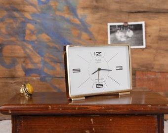 Retro clock, Vintage alarm clock, 11 jewels clock, Soviet mechanical clock, Russian clock Slava, Table clock, Wind up clock, Working clock
