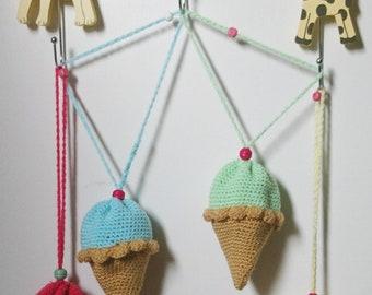 Crochet Ice-cream & cupcake purses/drawstring bags