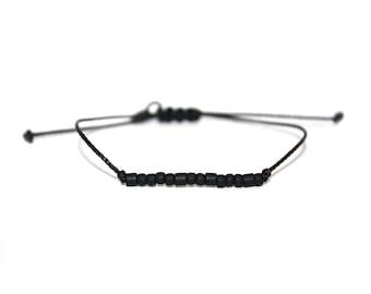 "BRAVE // The (Be Collection) ""Morse Code"" Nylon Cord Bracelet - Simple, Minimal, Be Brave Bracelet, Brave Morse Code Bracelet"