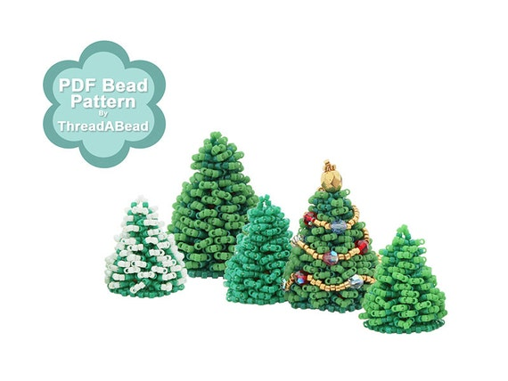 Bead Pattern: 3D Christmas Tree For Christmas Village