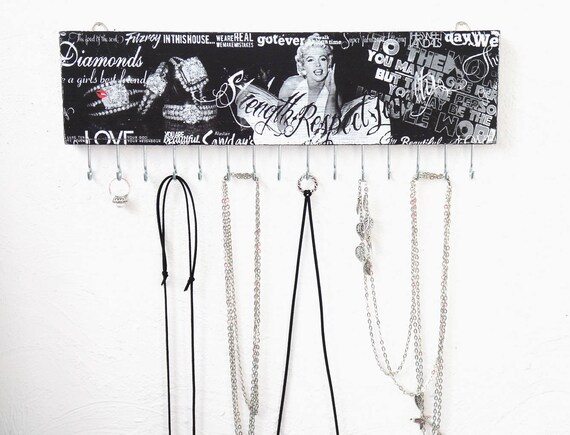 Jewelry holder wall Marilyn Monroe wall decor necklace