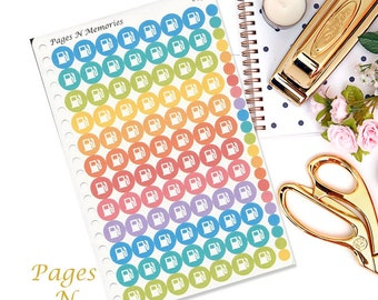 Gas Planner Stickers/ Fill Up Stickers/ Bill Stickers/ Planner Stickers/ Erin Condren/ Inkwell Press/ Plum Paper/ Happy Planner   #050