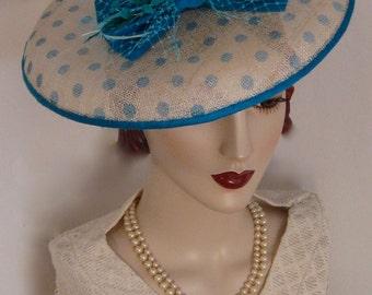 Polka Dot  Satellite Dish Hat