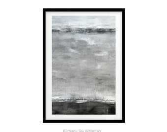 LARGE MINIMALIST PRINT 20x30 Instant Download Print Abstract Art Digital Download Gray Brown Clay Modern Art Contemporary Painting Urban Art