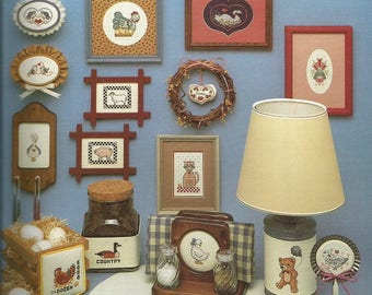 "Vintage Leisure Arts ""Milly Smith's Folk Art Mini's"" Cross Stitch Leaflet"