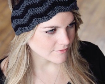 CROCHET PATTERN Headband Hat Women Chevron Stitch The GINA