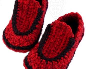Crochet Pattern: Children's Loafers