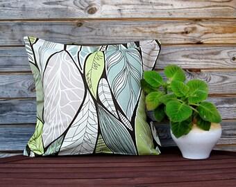 Natural Linen Pillow Cover, Grey, Green, Colorful pillow, Decorative Pillow, 100% Pure linen Shams, Handmade Customizable Cushion