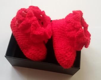 Baby booties crochet