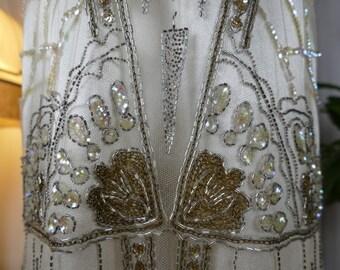 1920s Flapper Evening Dress, antique dress, Charleston dress, antique gown, antikes Kleid