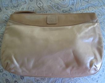 Anne Klein Calderon Beige Vintage Clutch Purse,  Estate Find,  Trendy Designer Bag,  Wrist Strap Purse,