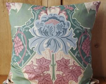 Liberty Of London Burnham Art Nouveau Cushion Cover Pastels Velvet Backed