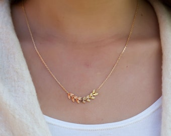 Fishbone necklace, fishbone chain, friendship necklace - 16K Gold fill