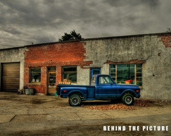 8x10 Osgood Indiana Photo, fine art photo print, Garage Photo, Wall Decor, 403 Buckley Street