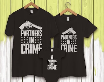 Family t shirt, matching family shirts,  family shirt ideas,  shirts for family, family clothing, crime partners shirts, father son shirts