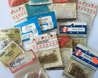 Vintage pearl colorful bead bundle