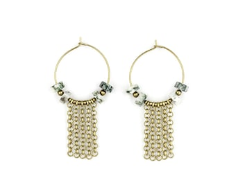 Brass hoops with Baumachat-ELA