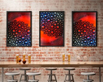 Abstract , nick cave inspired wall decor,