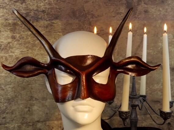 Red Devil Leather Mask