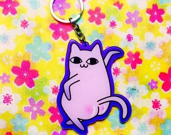 Sassy Kitty Acrylic Keychain,Accessory,Cute Keychain,Kawaii Keychain,Keychain Gift