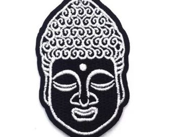 "Buddha Buddhist Monk Iron on Embroidered patch (1.75""-2.75"")"