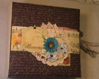 Fabric Covered/Stitched Photo Album or Journal