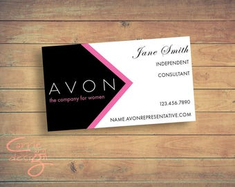Avon Sales Representative Business Card Digital Design/ Customized
